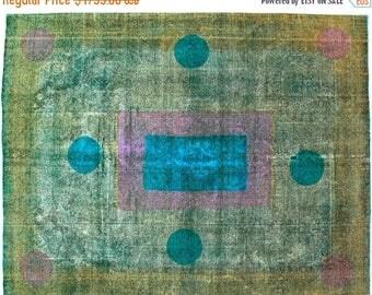 "ON SALE Vintage Handmade Persian Rug 9'8""x12'5"" - (Limited Edition) - Hunttrugs"