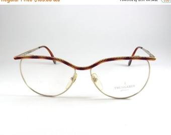 Vintage Eyeglasses, Trussardi TPL119, Cat Eye Glasses, Designer Eyeglasses, Gift for Her, Deadstock Sunglasses, Prescription Glasses, Retro