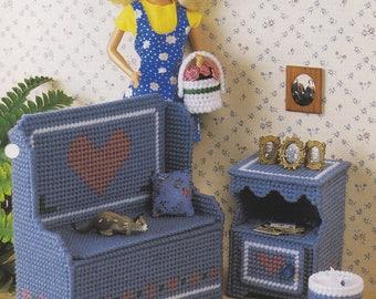 Dutch Hearts, Annie's Fashion Doll Plastic Canvas Pattern Club FP18-03