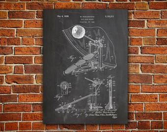 Drum Kick Pedal Canvas painting, Kick Pedal, Kick Pedal Poster, Kick Pedal Patent, Kick Pedal Print, Drummer,Gifts for Drummer,Drum Poster