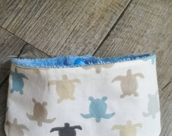 """Bandana bib for baby Terry and cotton """"turtles"""""""