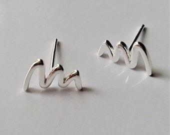 Sterling Silver Stud Earrings, Tiny Post Earrings, Minimalist Jewelry, Small Stud Earrings, Monder Jewelry, Everyday Earrings, Gift Idea.