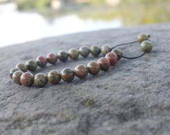 Bracelet en Unakite pour lithotherapie