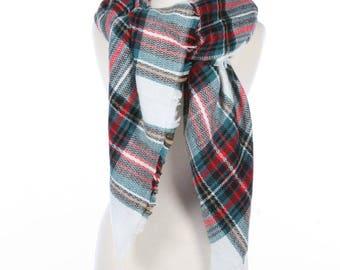 Blanket Scarf, Plaid blanket scarf, Winter scarf, Wool Blanket scarf, Plaid Scarf, Tartan scarf, Blanket plaid scarf