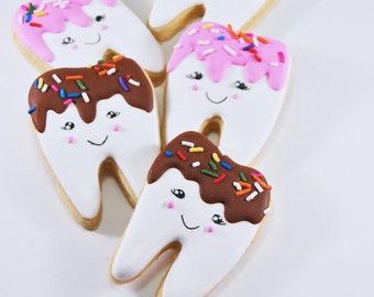 Sweet Tooth - cute decorated sugar cookies - foodie gift - friend gift - perfect gift - sweet treat - sweet tooth sugar cookies - sprinkles