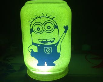 Minion Mason Jar Night Light