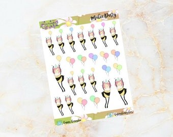 Mabee : Party - Handdrawn stickers for your planners, journals etc.