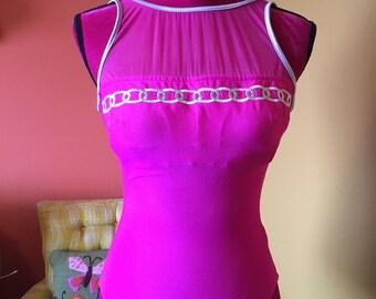 Hot pink 90s malibu barbie swimsuit