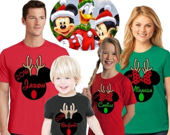 15% Off Mickey mouse inspired Christmas shirts/ Disney Christmas family shirts/Minnie mouse shirts/antlers christmas shirts/familymickeyantl