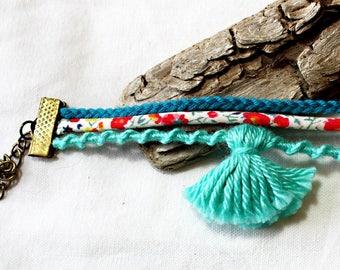 Cuff Bracelet * 3 * blue tones