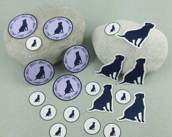 "Big sticker set ""Labrador"""