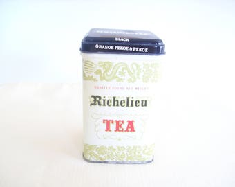 Richelieu Orange Pekoe Tea Tin. Empty. Vintage