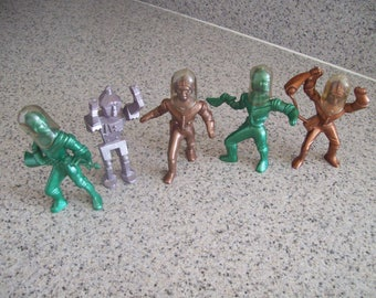 Spacemen Figures Hard Plastic Toy Vintage