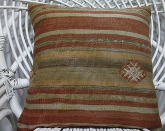 home decor kilim cushion sofa cushion outdoor pillow case 16x16 sofa pillow throw pillow kilim cushion cover 16x16 striped pillow  2776