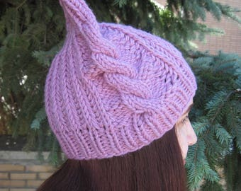 Christmas -Gift-for-sister-Cat-hat-Pink-cat-hat-Pink pussy-hat-Knit-pussy hat-Teen-girl-hat-women's-Winter -Hat-Animal-Hat-Wool-Beanie-girl