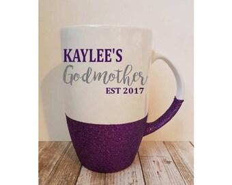Personalized Godmother Mug, Godmother Gift, Godmother Mug, Godmother Latte, Fairy Godmother Mug. Fairy Godmother, Godmother Announcement