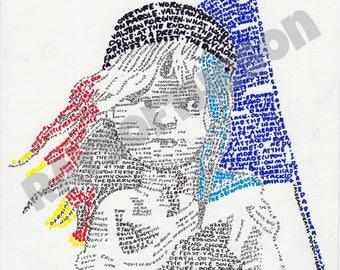 Les Miserables Word Art (Digital)