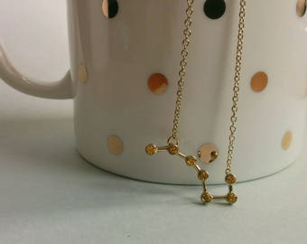 Big dipper. Necklace. Free shipping.