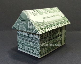 3-D HOUSE Dollar Origami - Building Home Made from Real Money