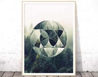 Geometric shapes | Etsy