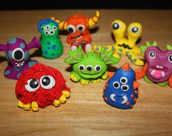 Monster Cake Toppers ~ Polymer Clay