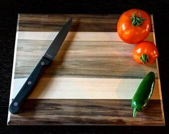 Small Walnut/Sapele/Maple Cutting board