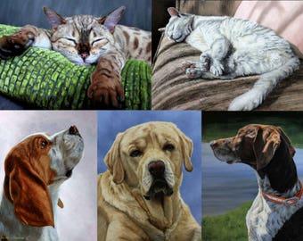 Pet Portrait, Pet Oil painting, Custom Pet painting, Pet portraits, Pet memorial, Pet Lover gift for her or him, Commission a pet portrait.