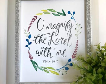 Original Watercolor 8/10 - Magnify the Lord with me