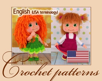 Irinka and Masha - Amigurumi Crochet Patterns PDF files by Anna Sadovskaya