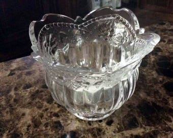Vintage Pressed Glass Votive