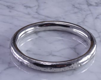 Monster Bangle That Has Been Around The Block (Sterling Silver)