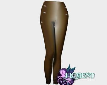 Brown Boho Faun Leggings - XS - 5X - Fawn, Deer, cosplay, costume, renaissance faire, festival, Halloween, Snapchat, tights, plus size