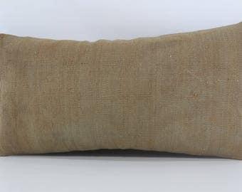12x24 Lumbar Kilim Pillow Throw Pillow 12x24 Decorative Kilim Pillow Handwoven Flat Woven Kilim Pillow Cushion Cover SP3060-906