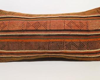 Lumbar Kilim Pillow Throw Pillow Sofa Pillow 12x24 Decorative Kilim Pillow Bohemian Kilim Pillow Handwoven Kilim Pillow  SP3060-1385