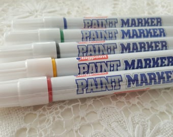 Indelible marker green Paint Marker pens 1 thick in permanent ink for steel iron plastic glass Etc.