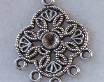 1 connector Chandelier 30x23mm Tibetan silver for pierced ear Earrings