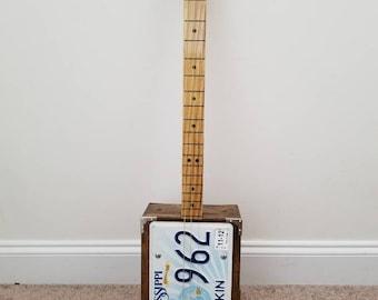 3 string slide cigar box guitar resonator (wine box)