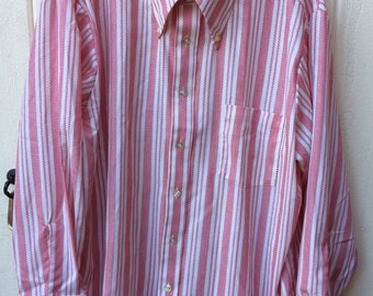 Vintage towncraft jcpenny long sleeve striped shirt
