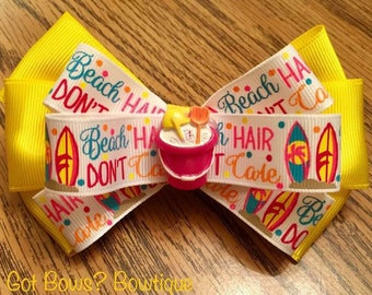 Beach Hair Don't Care Hair Clip Bow