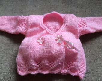 Wrap over cardi, size approx 3 months