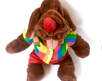 Talking Wrinkles Dog Puppet Vintage Battery Operated Singing Interactive Plush 1986 Ganz Collar Tag Complete Heritage Plushie Stuffed 80s