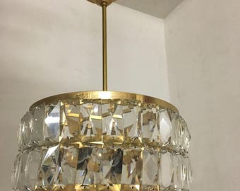 Sale Chandelier, Crystal Chandelier, Italian MidCentury Lighting, Wiring Comp USA, Free Shipping USA