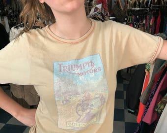 Vintage Triumph Motors Motorcycle Tshirt