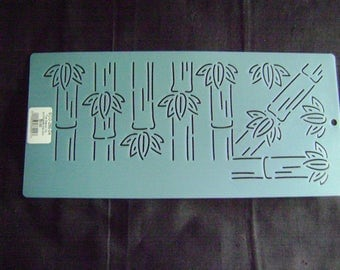Sashiko Japanese Embroidery Stencil 4 in. Bamboo Motif Border/Quilting
