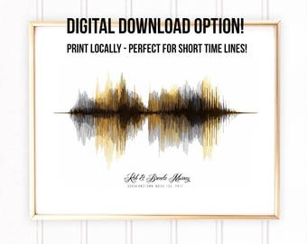 Custom Sound Wave Art Digital Download, Custom Made Art, Soundwave Custom Art