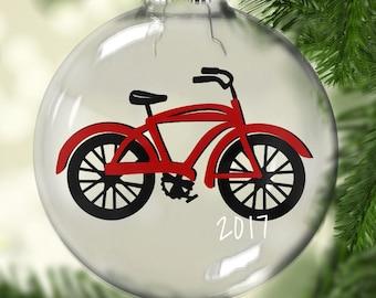 personalized christmas ornament bike ornament christmas ornament custom ornament - Bicycle Christmas Ornament