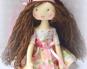 Rag doll Doll rag  Gift for girl Birthday gift  doll rag  Doll  Handmade  Doll bear Doll interior  Gift  for baby My first toy My first doll