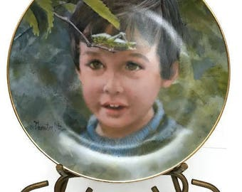 """Vintage """"Nature Hunt"""" plate from 1982 Fine china By Villeta From an original painting by American artist Thornton Ute."""""""