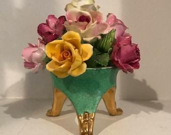 Staffordshire Bone China Rose Bouquet