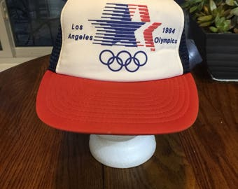 1984 Los Angeles Olympics Trucker cap Hat USA